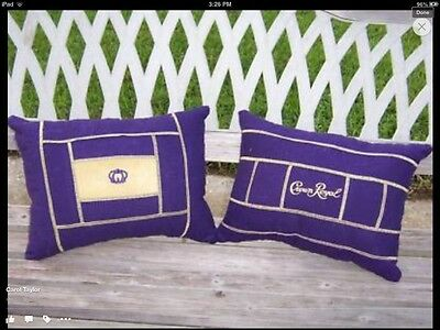 REVERSABLE   CROWN  ROYAL  &  RESERVE  BAG  PILLOWS