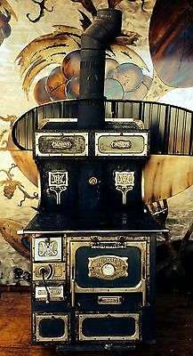 ANTIQUE MONARCH WOOD BURNING COOK STOVE CAST IRON