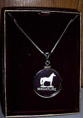 Mini-Horse  American Miniature Horse Neckless With Sterling Silver Chain  New