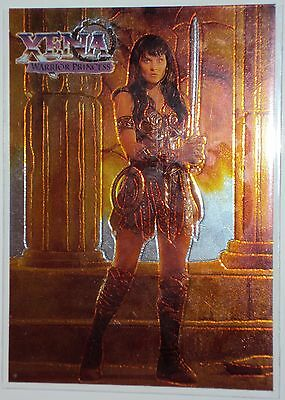 XENA WARRIOR PRINCESS 1998 TOPPS Chrome Card C2 c-2 Lucy Lawless Cult TV Fantasy