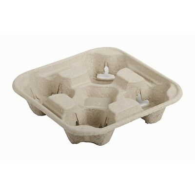 4 Cup Carry Trays. Qty 500 moulded pulp 2 cup carry trays, for hot & cold drink