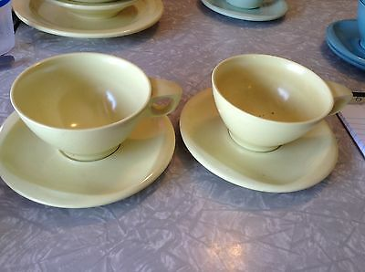 Boontonware  yellow cup and saucer set