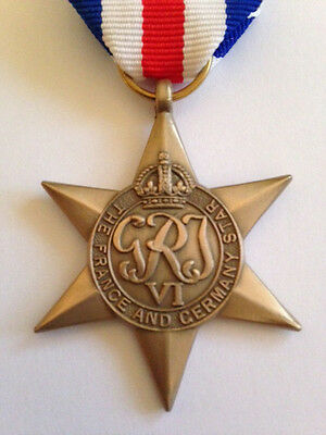 World War II - France and Germany Star Medal.