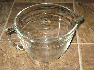 Vintage Anchor Hocking Clear Glass 2 quarts  Measuring Cup