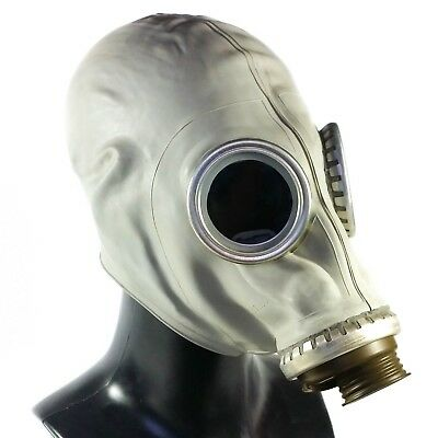 Soviet russian Gas mask GP-5. Grey rubber New, Nos.  only mask. Size S
