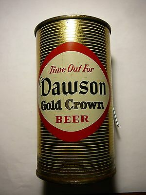 Dawson Gold Crown Beer Can,12oz Flat Top .1956