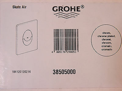 Grohe Skate Air Dual Flush Button Assembly Chrome 38505000 VAT AND POSTAGE INC
