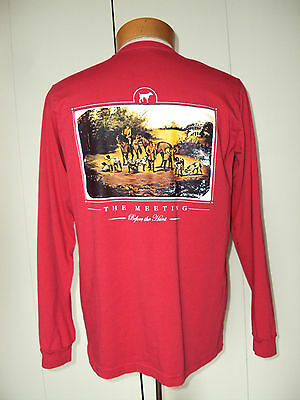 New! SOUTHERN POINT CO The Meeting Before the Hunt Fox T Shirt Longsleeve Small