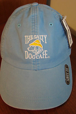 THE SALTY DOG CAFE Hilton Head Island Women's Embroidered Blue Hat by HEAD NWT