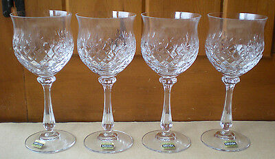 4 Mikasa Crystal Chateau Goblets Glasses new Germany