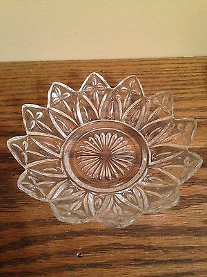 Vintage Cut Glass Small Candy Dish