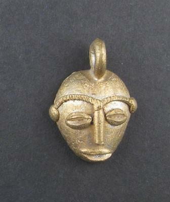 African Traditional Mask Brass Pendant from Africa Ghana