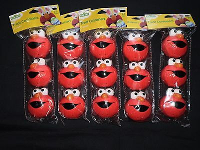 NEW Lot 15 pc Sesame Street Elmo Treat Containers Fillable Easter Egg Hunt Fun