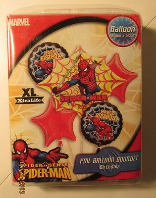 5PC Spiderman Superhero Foil Mylar BALLOONS BOUQUET HAPPY BIRTHDAY Party Red