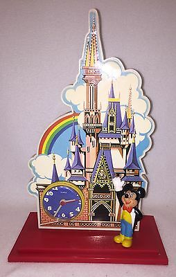 =Walt Disney Productions Vintage Mickey Mouse and Disneyland Castle Clock Works!