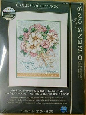 Dimensions - Wedding Record Bouquet *NEW* Gold Collection Counted Cross Stitch