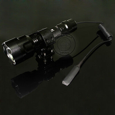 Ultrafire C8 Tactical 18650 CREE XM-L T6 LED 1Mode 1000L Flashlight Torch Mount
