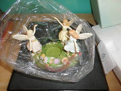 PARTY LITE 2 p 7339 Dance Of The Fairies Candel holder Collectible magic fairy