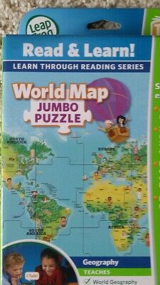 LeapFrog LeapReader Interactive WORLD Map Jumbo Puzzle (works with Tag) NEW