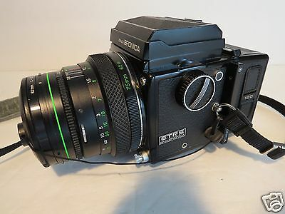 Zenza Bronica ETRS Camera with 75mm Lens and two 120 film backs