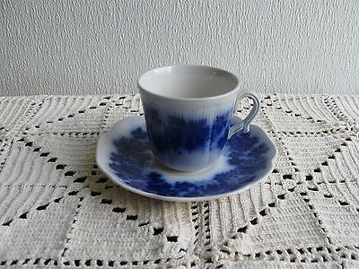 Vintage Vinranka Flow Blue Tea Cup and Saucer with Grape Leaves pattern