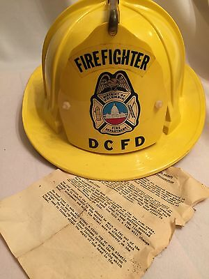 Vintage Cairns Bros Yellow 70s Model 880 Fireman Helmet With Front