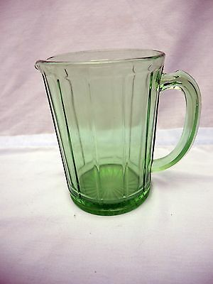 "Green Glass Pitcher - 5 3/4"" Tall - Holds 3 Cups"