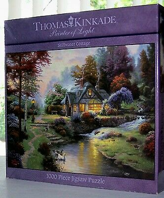 "THOMAS KINKADE ""STILLWATER COTTAGE"" 1000 PCE PUZZLE - GUARANTEED COMPLETE!!"