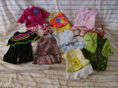 """17 Pc Lot Handmade Doll Clothes for American Girl or 18"""" Doll"""