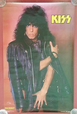 KISS PAUL STANLEY POSTER ANIMALIZE 1985 UNMASKED 1980'S HEAVY METAL MARK WEISS