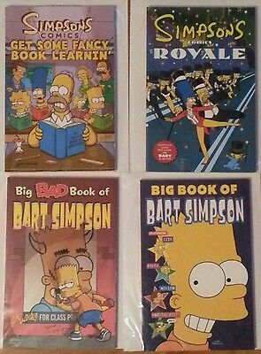 SIMPSONS COMICS GRAPHIC NOVEL LOT OF 4 TPB GET SOME  BIG BAD BOOK OF BART ROYALE