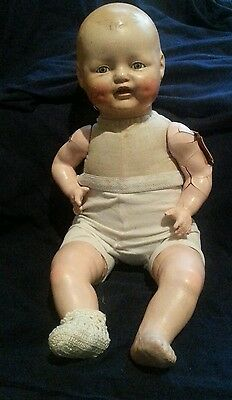 Scary ANTIQUE Rare 1928 Horsman Baby Dimples Old  Doll EVIL STEAMPUNK HAUNTED