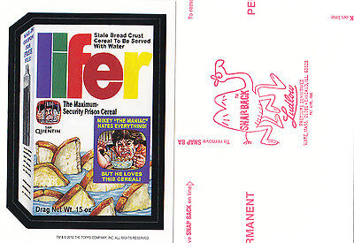 2012 WACKY PACKAGES OLD SCHOOL SERIES 4 **LIFER CEREAL** RED LUDLOW BACK