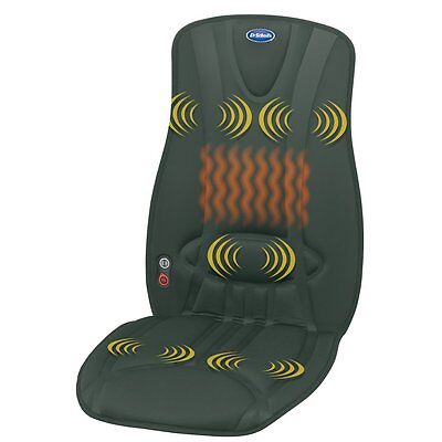 Dr Scholls Soothing Full Cushion Massager Heat Car Seat Home Office Chair Back