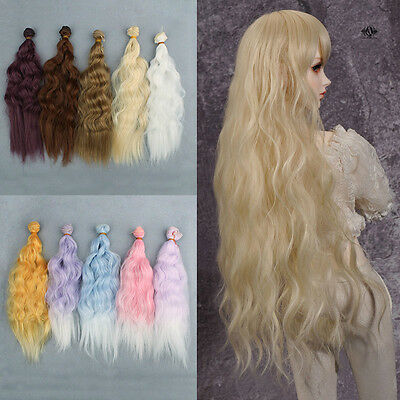 25*100cm Wig Doll DIY High-temperature Wire Handmade Fashionable Curly Wigs Hair