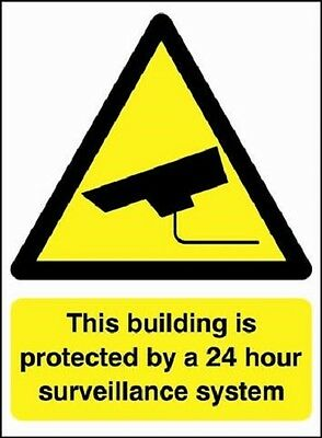 This Building is Protected by 24 hours Surveillance CCTV Security Signs, Sticker