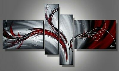 oil paintings gray black home decor abstract wall art picture Landscape present