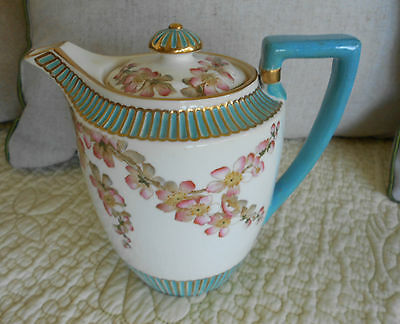 1900'S  ENGLISH  G. JONES & SON  TEA POT PEACH FLOWER   RdNo 42306