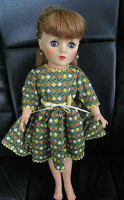 """Vintage 1950's Vinyl Eegee Fashion Doll 15"""" Rooted Hair Excellent Condition"""