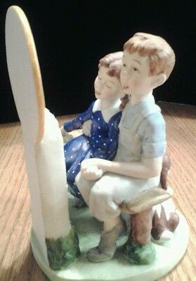 "Danbury Mint Norman Rockwell ""Young Love"" Porcelain Figurine 6"""