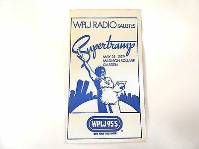 """""""Supertramp"""" WPLJ 95.5 Concert Sticker 1979 Mint/ How Cool Is This!!!"""