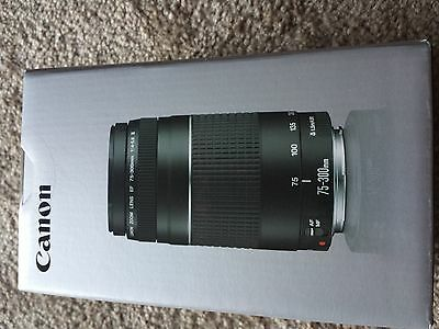 Canon EF 75-300 mm F/4-5.6 III Lens (Brand New Unopened)