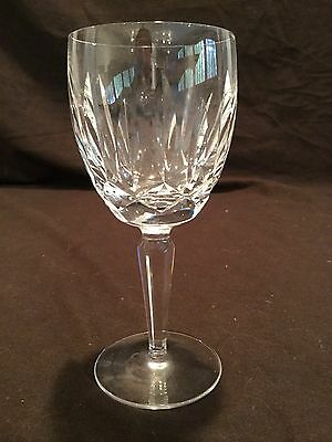 SINGLE WATERFORD CRYSTAL WATER GOBLET IN THE KILDARE PATTERN AS IS