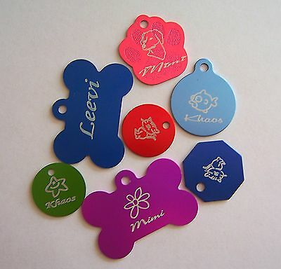 DOUBLE SIDED Custom Engraved Pets Tags Dog Cat ID Tags