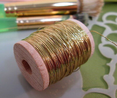 Vintage Golden Gimp Metallic Tinsel  Fly Tying  Weave Knit