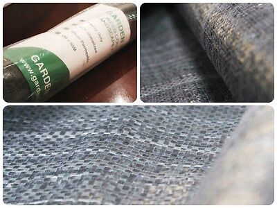 1mx50m wide Black Heavy Duty Weed Control Fabric 40 Yr Life cover Price Per Roll