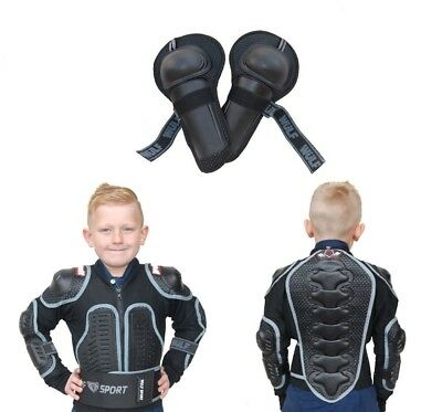 Kids Wulfsport MX Full Deflector Defender Armour Jacket and Knee Pad Kit Set #D4