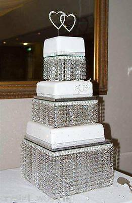 Crystal wedding Cake Stand 3 tier  Real Swarovski element crystal / Faux crystal