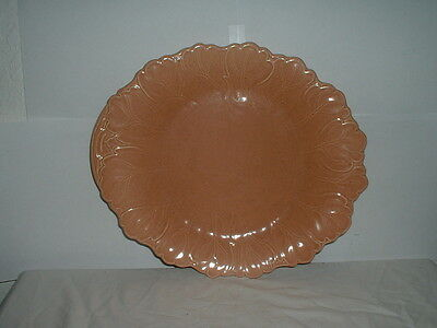 "Steubenville by Russel Wright Woodfield-Coral (Salmon Pink) 13"" Oval Platter"