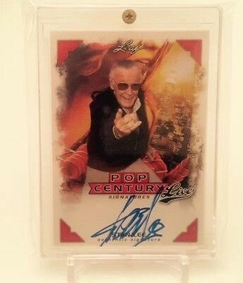 Stan Lee 2014 LEAF Pop Century Signatures Live Autograph Auto Card LA-SLI 3/5 SP